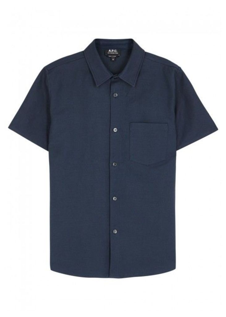 A.P.C. Bryan Cotton Blend Shirt - Size L