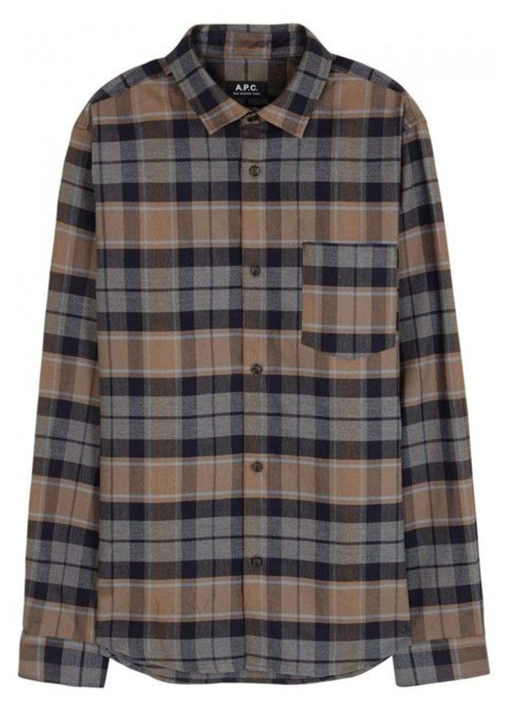 A.P.C. Milan Checked Cotton Blend Shirt - Size L