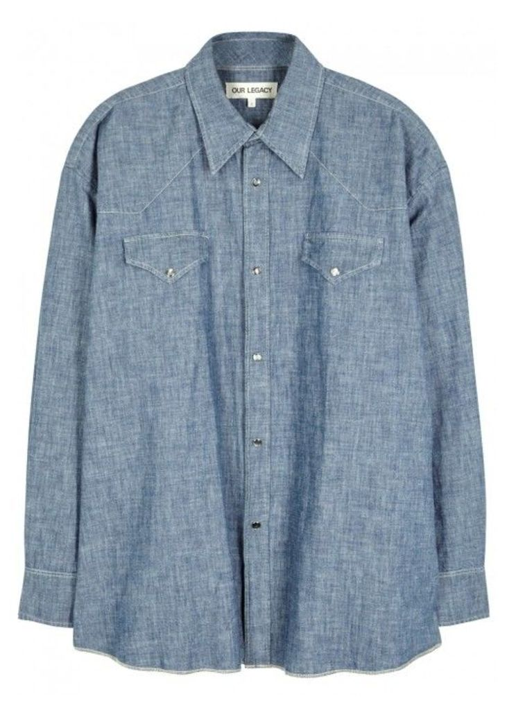 Our Legacy Blue Chambray Shirt - Size 1