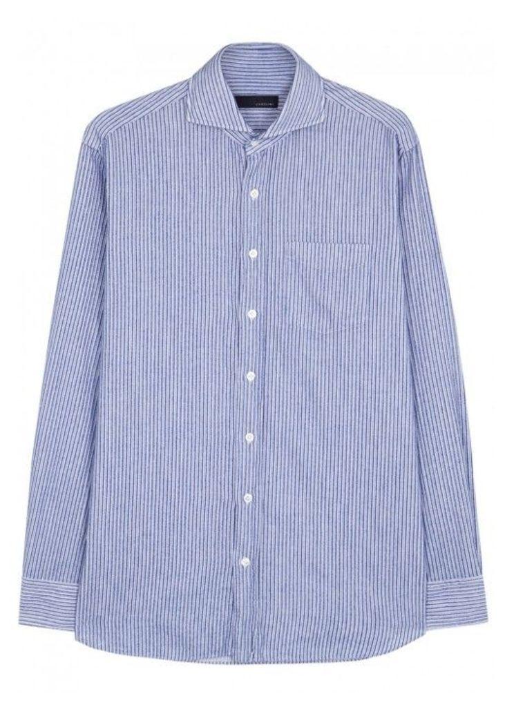 LARDINI Striped Cotton Shirt - Size 16