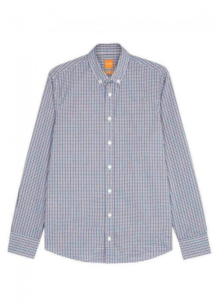 BOSS Orange Epreppy Checked Cotton Shirt - Size L