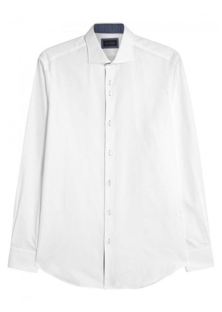 Pal Zileri White Cotton Shirt - Size 15