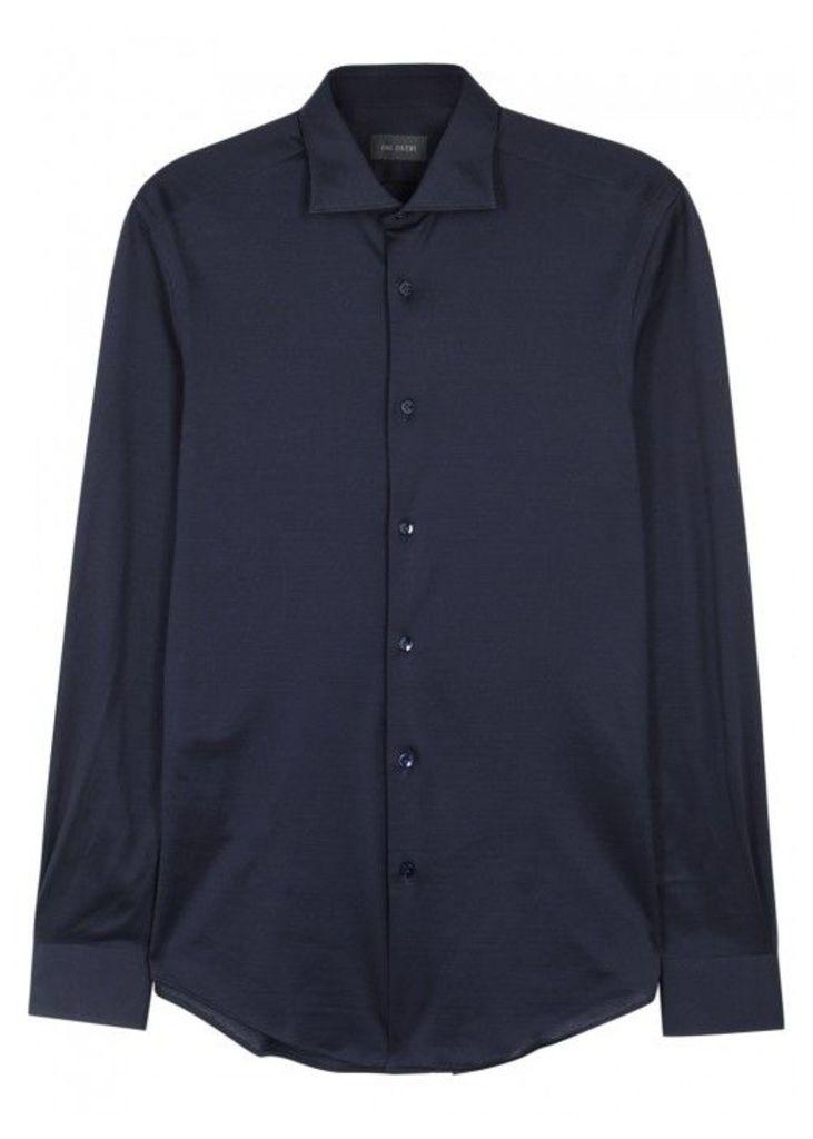 Pal Zileri Navy Cotton Jersey Shirt - Size 15