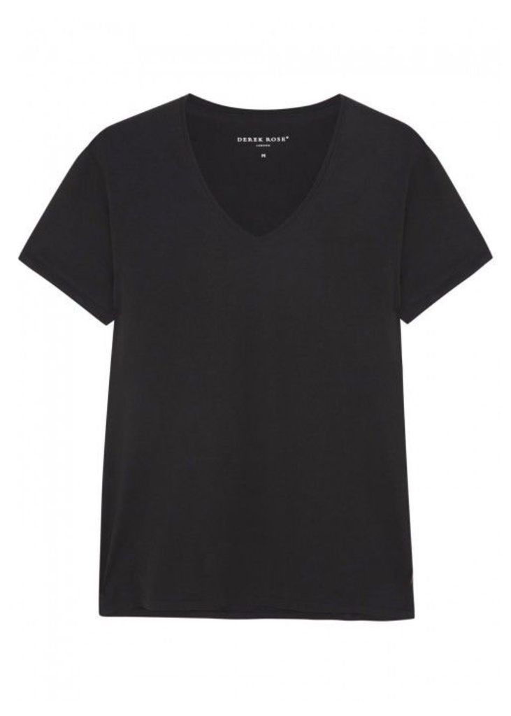Derek Rose Jack Black Cotton Jersey T-shirt - Size M