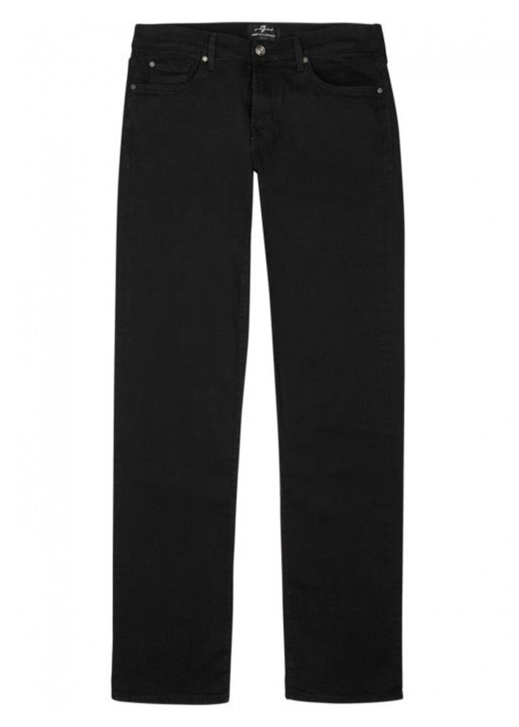 7 For All Mankind Standard Luxe Performance Black Jeans - Size W34