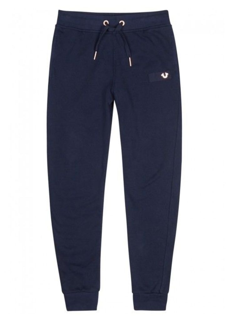 True Religion Navy Cotton Jogging Trousers - Size M