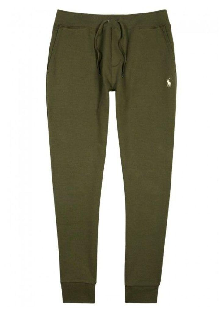 Polo Ralph Lauren Olive Jersey Jogging Trousers - Size L