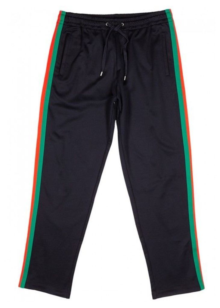 Gucci Midnight Blue Striped Jogging Trousers - Size L