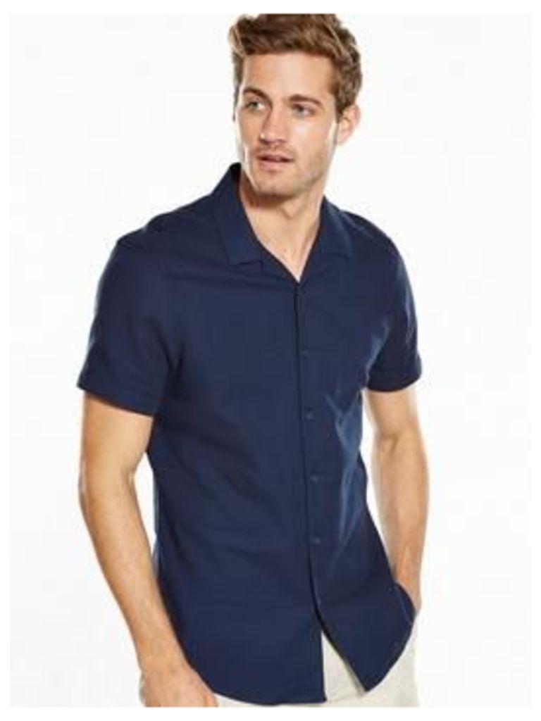 V By Very Short Sleeve Cuban Collar Shirt