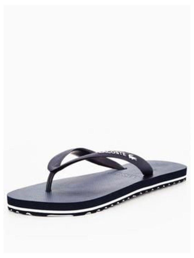 Lacoste Lacoste Nosara Lcr Flip Flop - Dk Blue/White