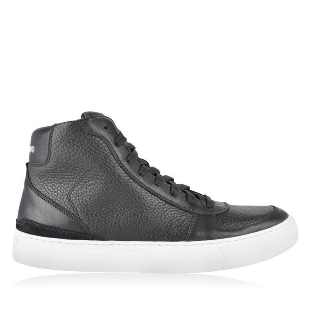 STONE ISLAND Leather High Top Trainers