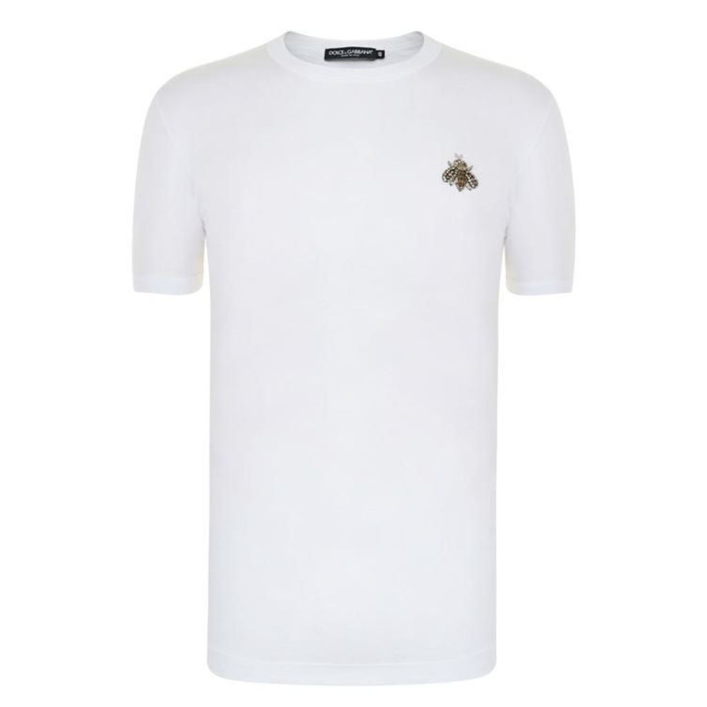 DOLCE AND GABBANA Bee Encrusted T Shirt