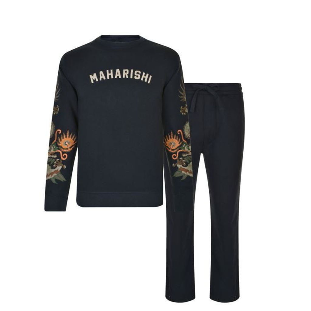 MAHARISHI Embroidered Dragon Tracksuit