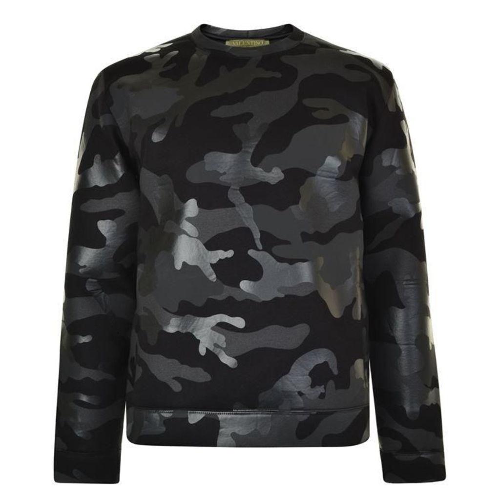 VALENTINO Camouflage Sweatshirt Jumper