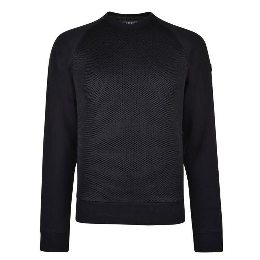 ARMANI JEANS Mesh Panel Sweatshirt
