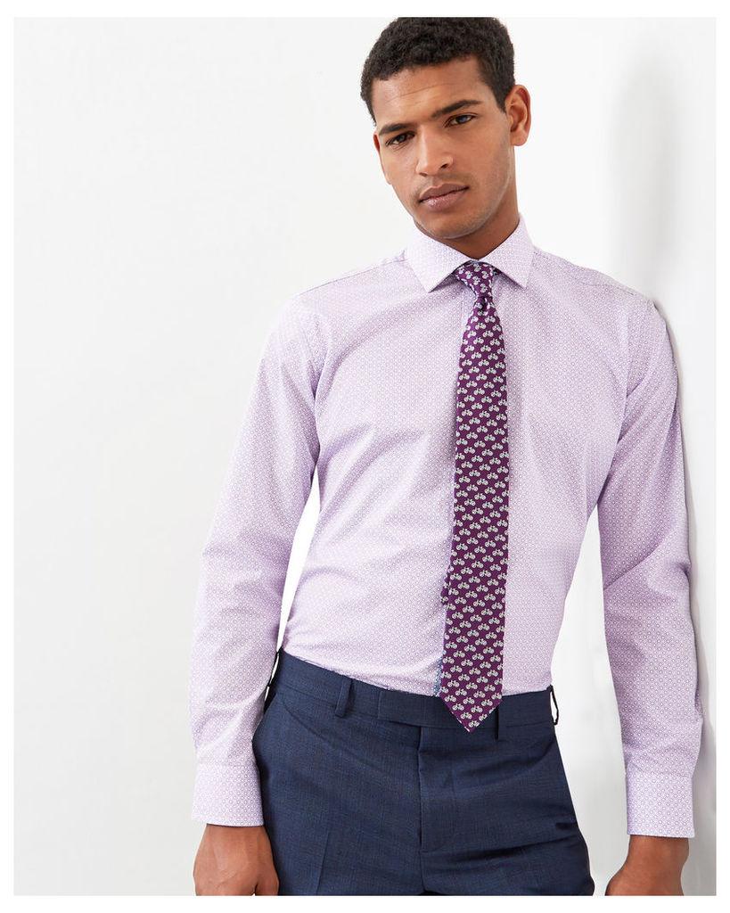 Ted Baker Geo print cotton shirt Purple