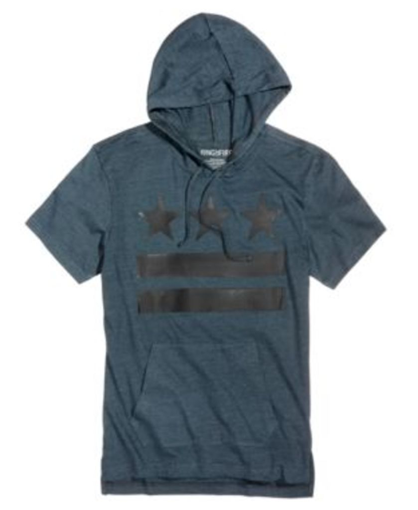 Ring of Fire Men's Graphic-Print Hooded T-Shirt, Only at Macy's