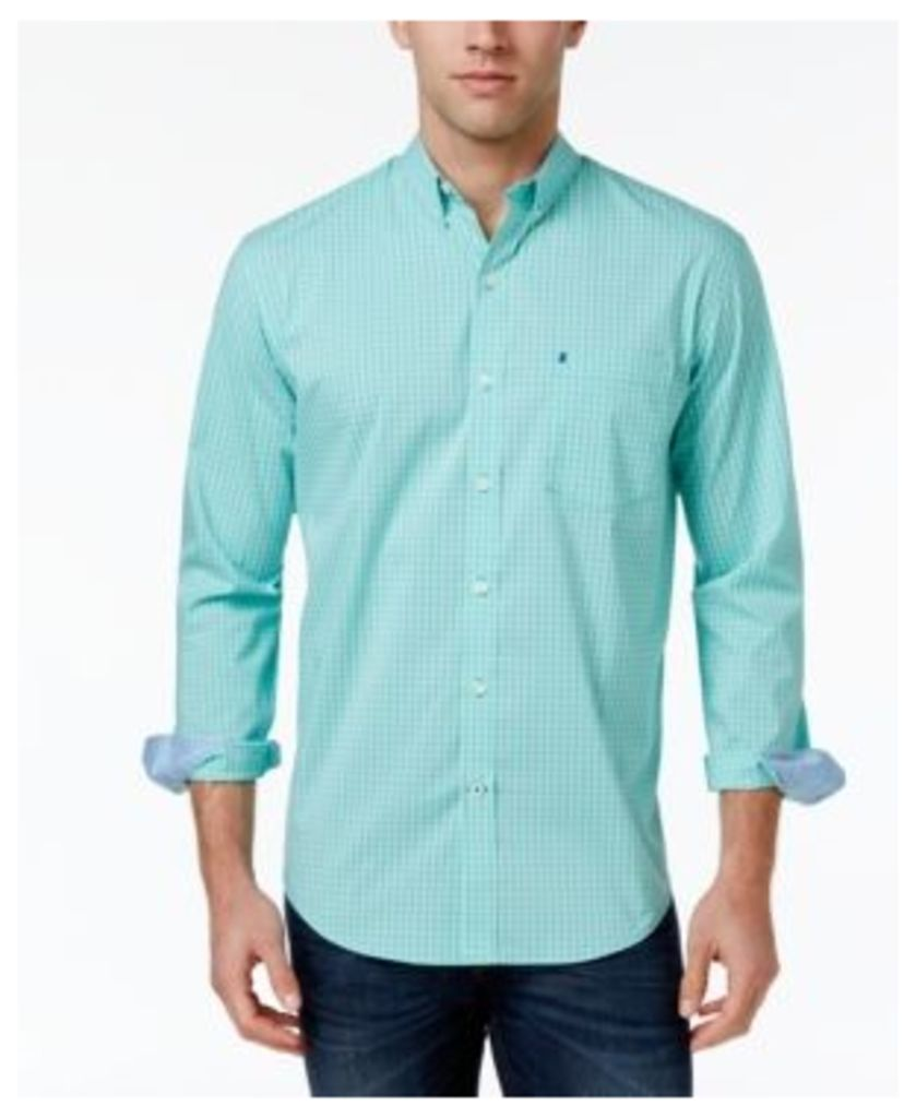 Izod Men's Non-Iron Stretch Upf 15+ Performance Shirt, Only At Macy's