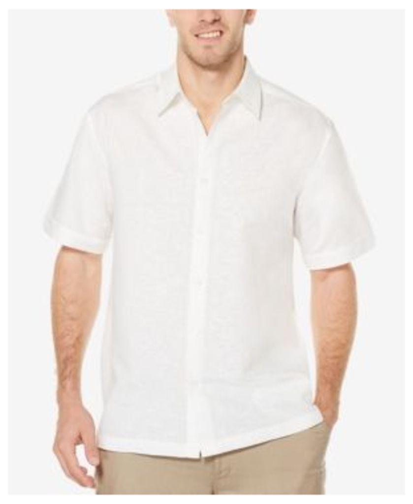 Cubavera Men's Linen Tonal Embroidered Shirt
