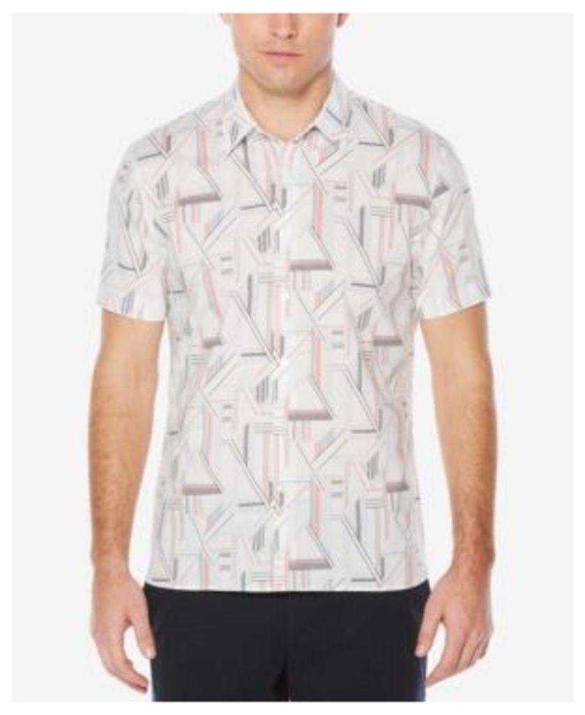 Perry Ellis Men's Geo-Print Stretch Shirt