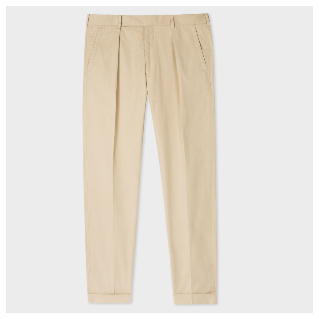 Men's Stone Wool Tapered Trousers
