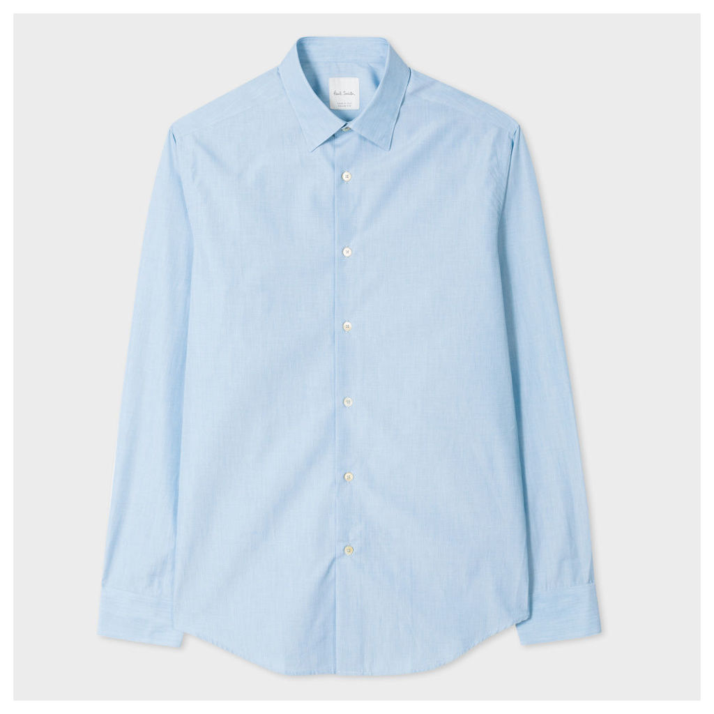 Men's Tailored-Fit Jade End-On-End Cotton Shirt