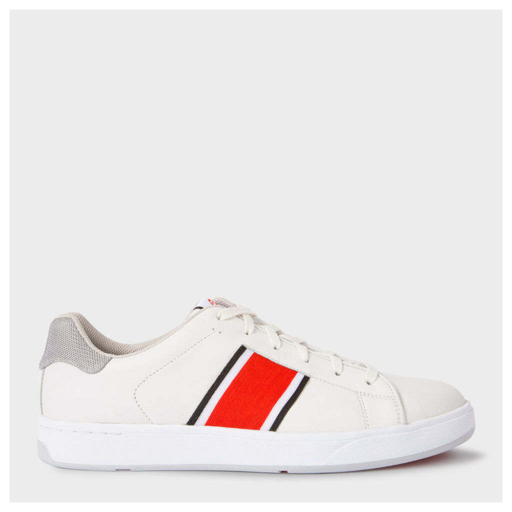 Men's White Leather 'Lawn' Trainers