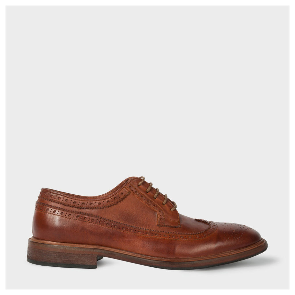 Men's Dip-Dyed Chestnut Brown Leather 'Malloy' Brogues