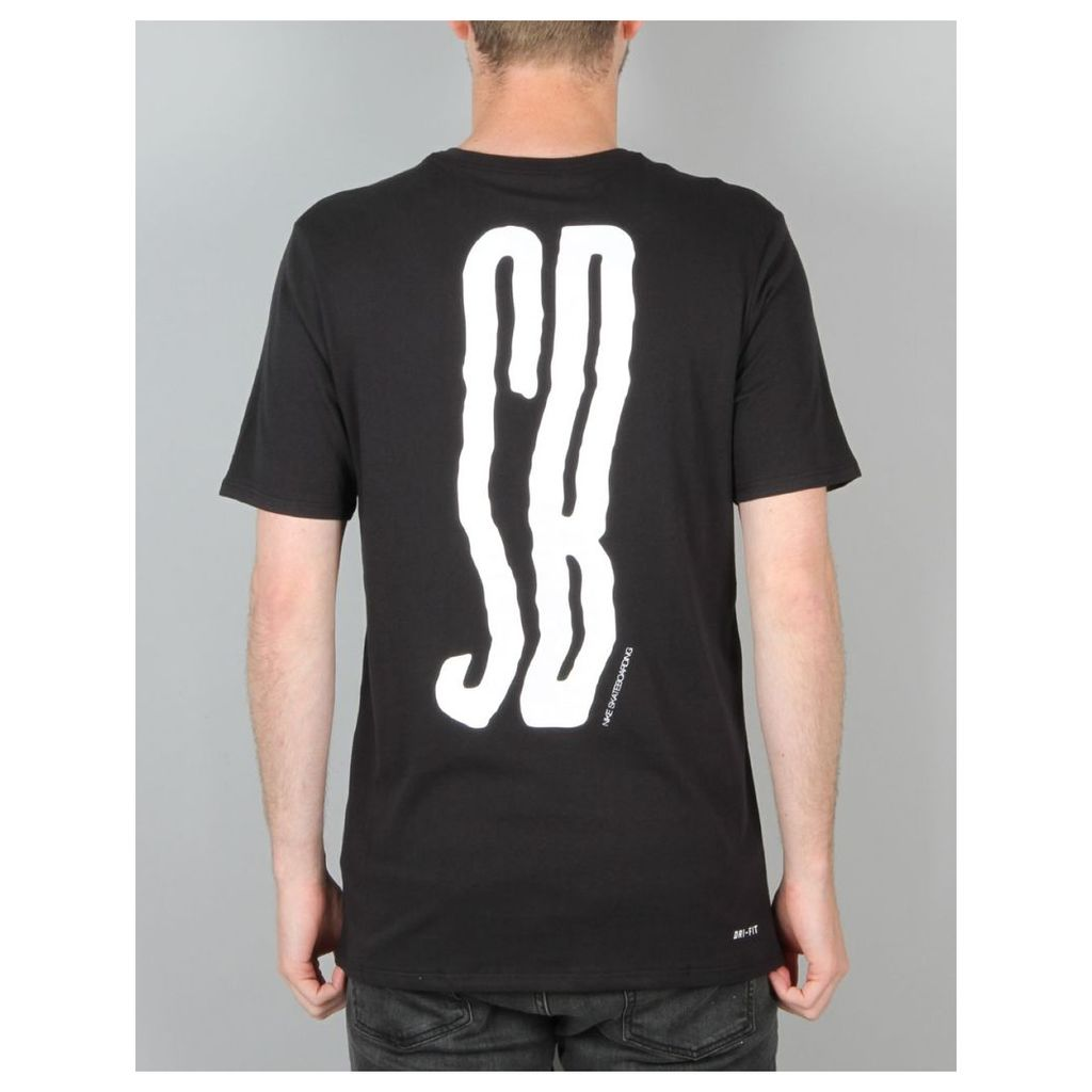 Nike SB Wave T-Shirt - Black/Black/White (S)
