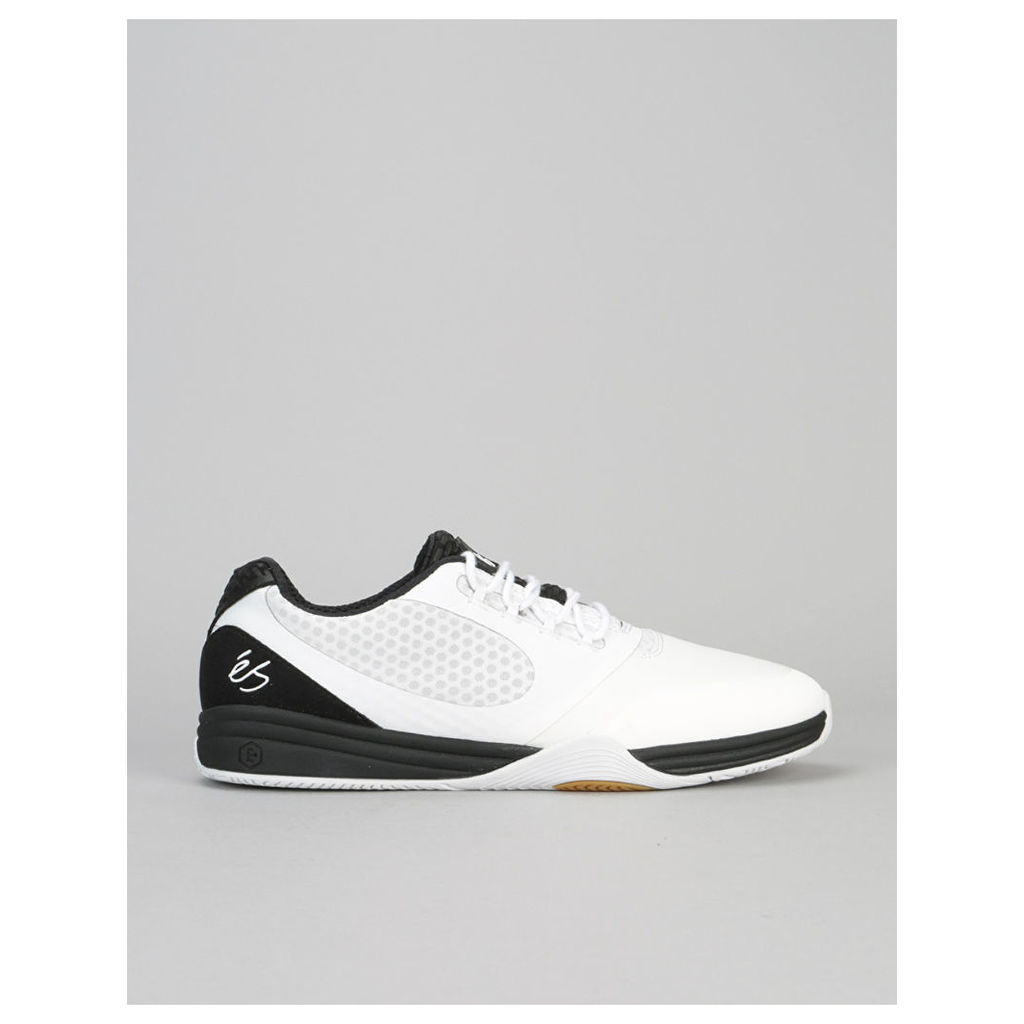 éS Sesla Skate Shoe - White/Black (UK 7)