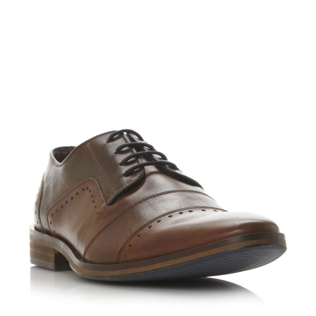 Boycy Punch Hole And Toe Cap Detail Leather Shoe