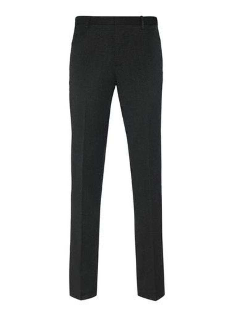 Mens Tailored Fit Charcoal Trousers, MID GREY