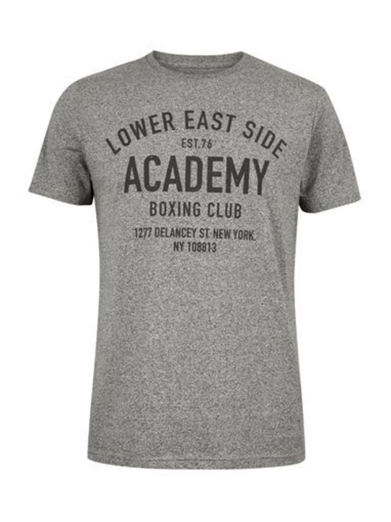Mens Grey Lower East Side Print T-Shirt, Grey