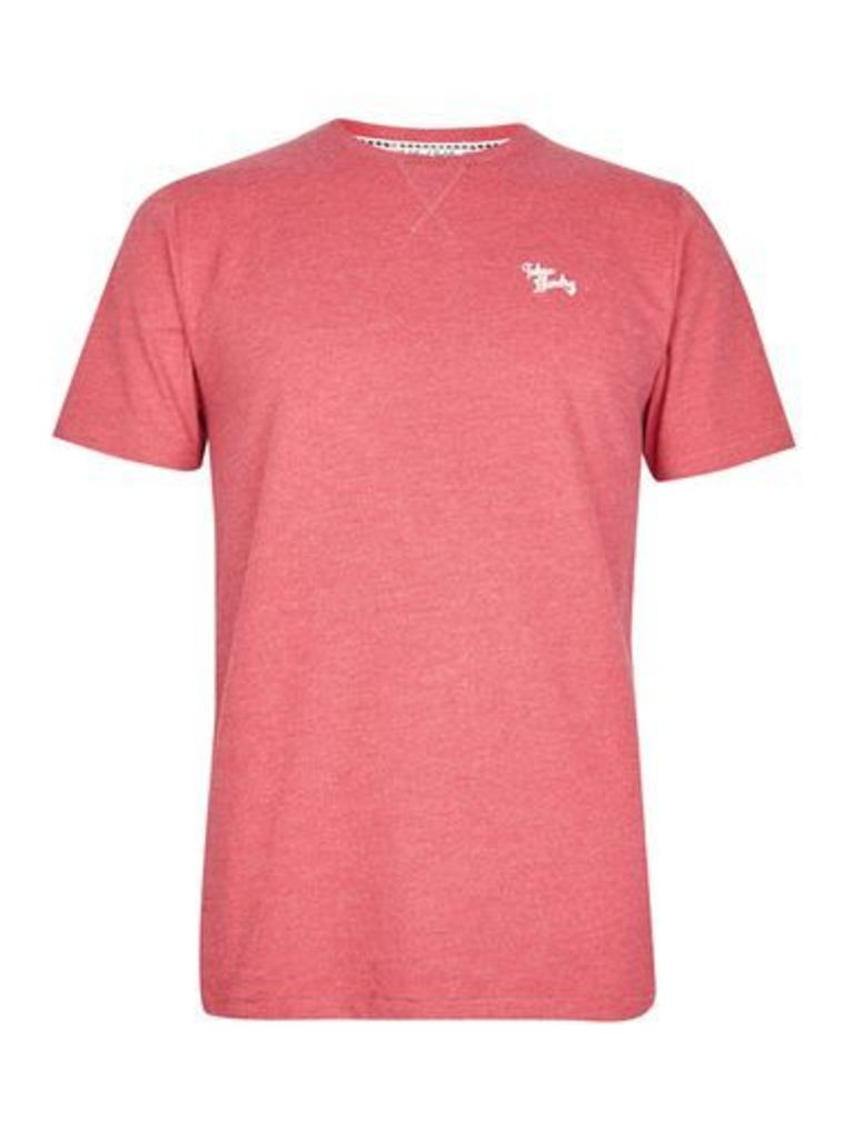 Mens Tokyo Laundry Essential Red Marl Crew Neck T-Shirt*, RED