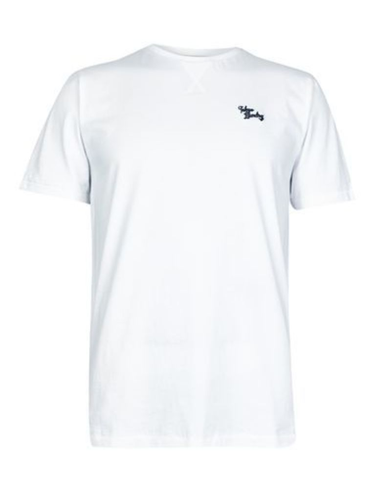 Mens Tokyo Laundry Essential White Marl Crew Neck T-Shirt*, WHITE