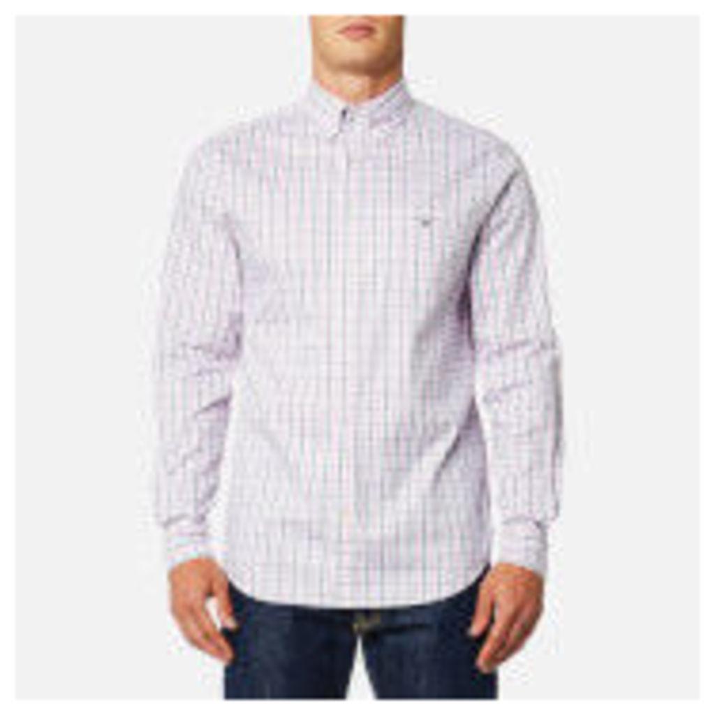 GANT Men's Oxford Check Button Down Shirt - California Pink