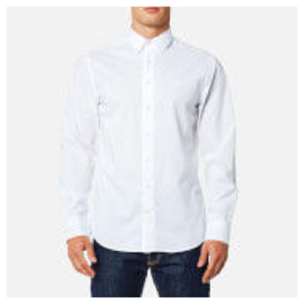 GANT Men's Tech Prep Chambray Solid Shirt - White