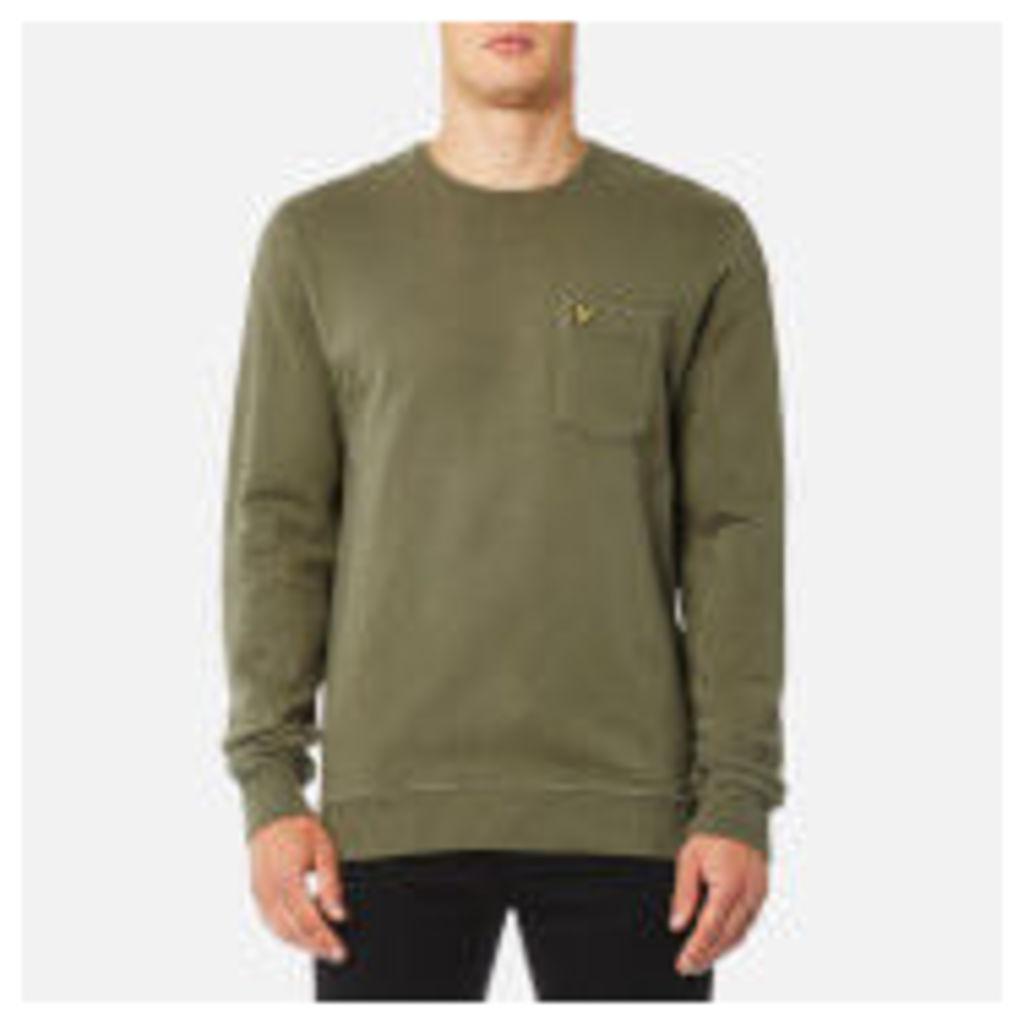 Lyle & Scott Men's Garment Dye Sweatshirt - Dusty Olive