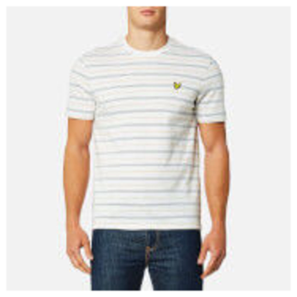 Lyle & Scott Men's Pick Stitch T-Shirt - Oatmeal Marl