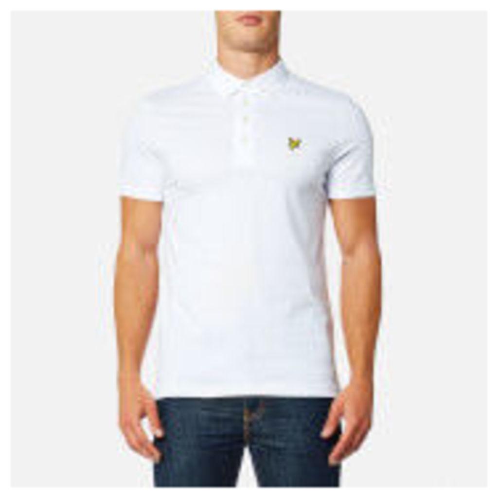 Lyle & Scott Men's Woven Collar Polo Shirt - White