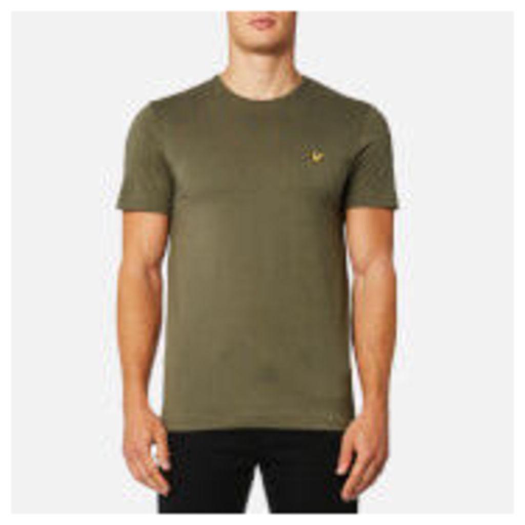 Lyle & Scott Men's Plain Pick Stitch T-Shirt - Dusty Olive