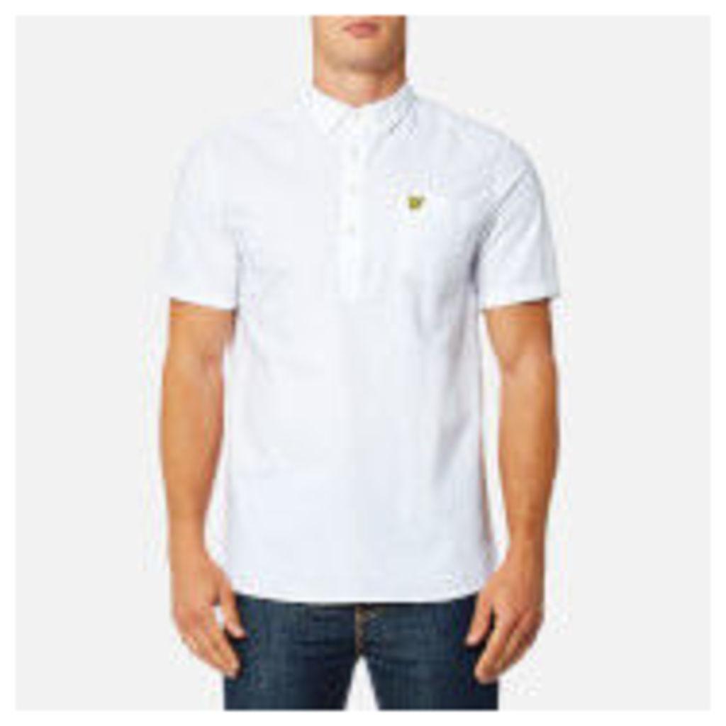 Lyle & Scott Men's Garment Dye Oxford Overhead Shirt - White
