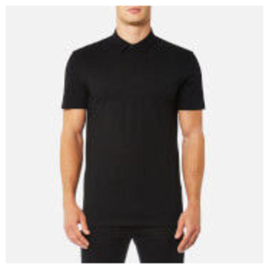 Versace Collection Men's Medusa Back Logo Polo Shirt - Nero