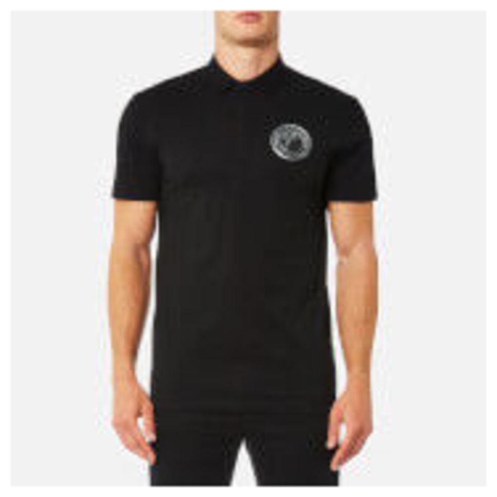 Versace Collection Men's Round Logo Polo Shirt - Nero
