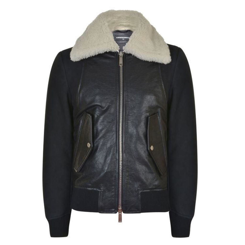 DSQUARED2 Shearling Harness Jacket