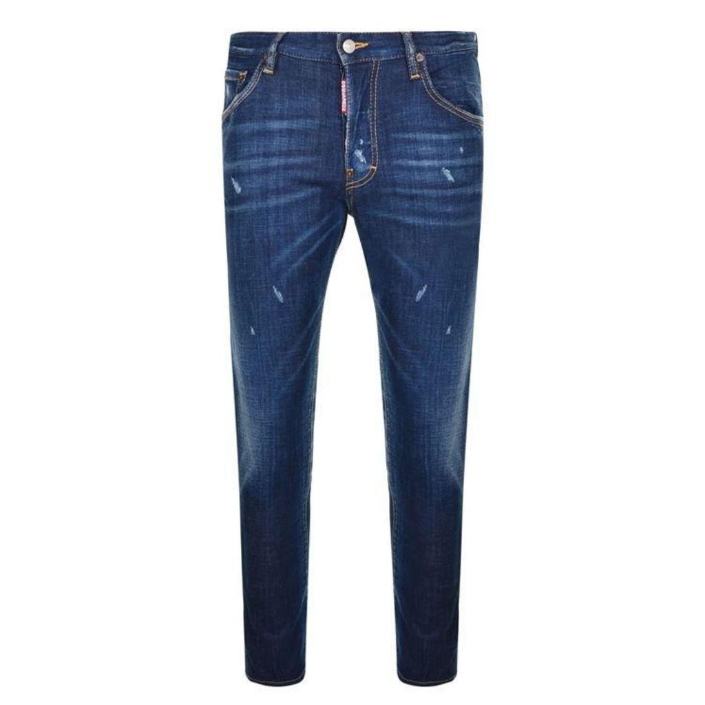 DSQUARED2 Skater Fit Stretch Denim Jeans