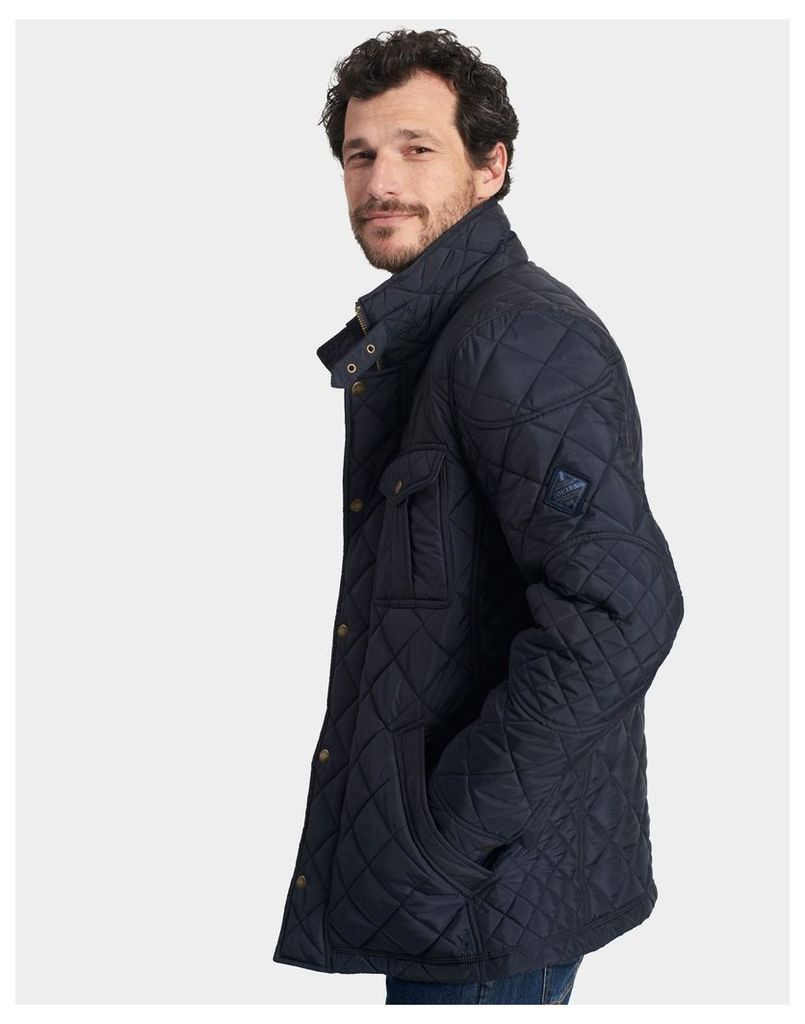 Marine Navy Holmwood Quilted Jacket  Size L | Joules UK
