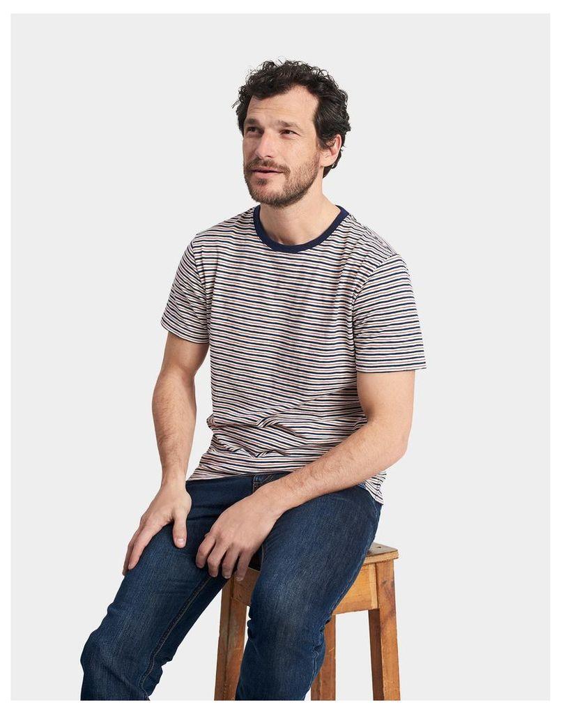 Midnight Stripe Boathouse Slub T-Shirt  Size L | Joules UK