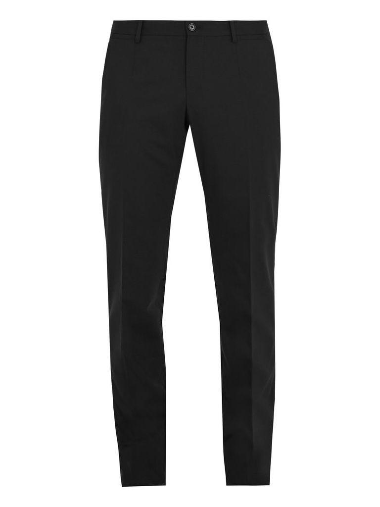 Slim-fit stretch wool-blend trousers