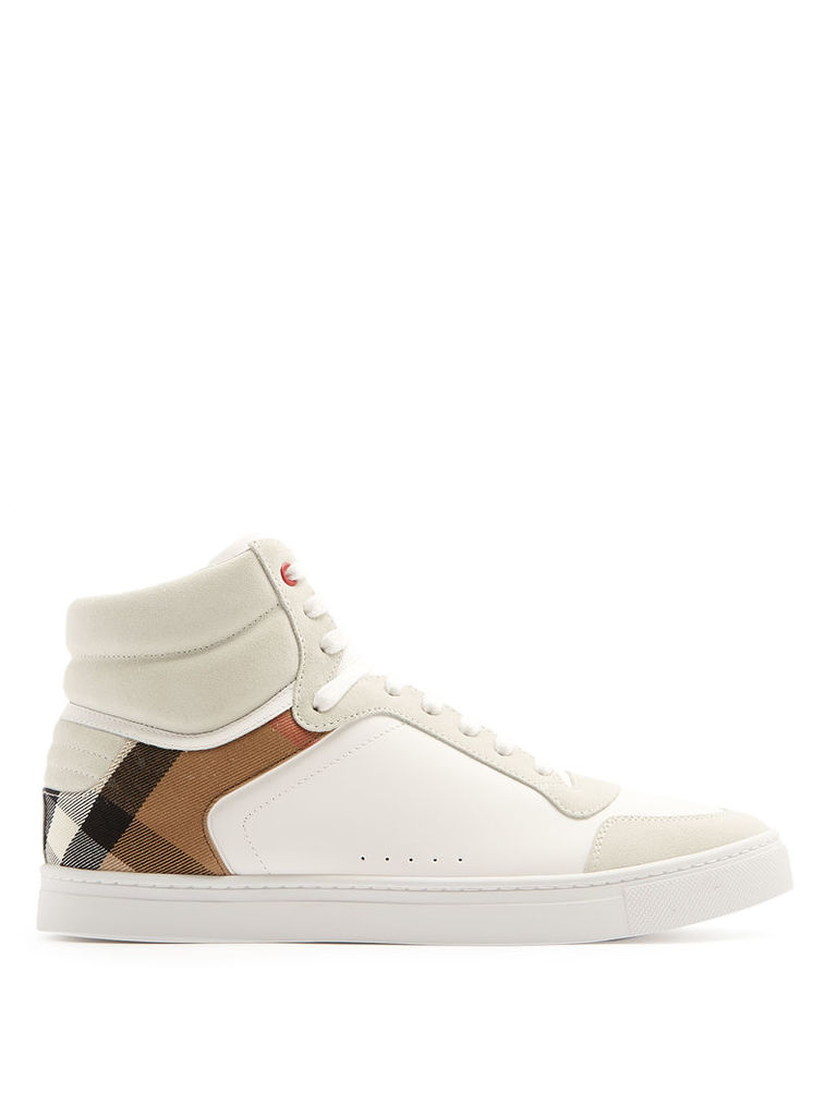 Reeth high-top leather trainers